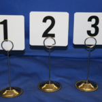 table number and stands